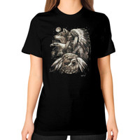 Native american eagle men Unisex T-Shirt (on woman)