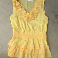 Sweet Buttercup Blouse [3343] - $28.00 : Vintage Inspired Clothing & Affordable Fall Frocks, deloom | Modern. Vintage. Crafted.