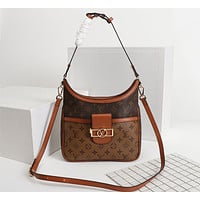 LV Louis Vuitton MONOGRAM CANVAS MYLOCKME BB HANDBAG INCLINED SHOULDER BAG