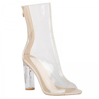 Prim n Proper Clear Ankle Boots