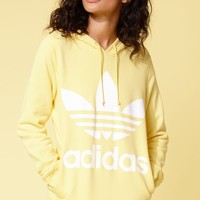 adidas Adicolor Yellow Trefoil Hoodie at PacSun.com