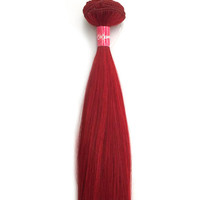 Cameliar Straight Clip-In Human Hair Extension Color Red