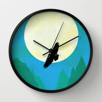 Minimalist hawk Wall Clock by Tony Vazquez