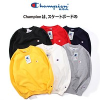 '' Champion ''Fashion Casual Women Men Embroider Pullover Long Sleeve Sweater G