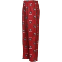 San Francisco 49ers Preschool Allover Logo Flannel Pajama Pants - Scarlet