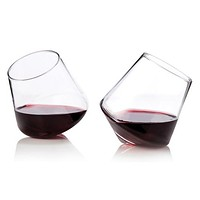Rolling Crystal Wine Glasses by Viski®