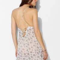 Pins And Needles Floral Lace-Back Slip - Urban Outfitters