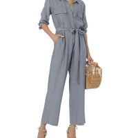 Delia Chambray Jumpsuit