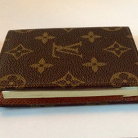 Original Vintage Louis Vuitton Small Note Pad  Lv Signature Design , Comes With Note Pad