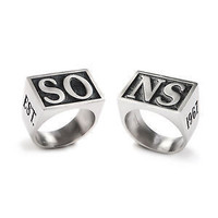 SONS OF ANARCHY JAX SO NS OFFICIALLY LICENSED REPLICA RING SET