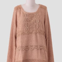Sweet Honey Lace Detail Sweater