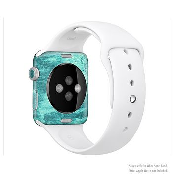 The Grungy Teal Chipped Concrete Full-Body Skin Set for the Apple Watch