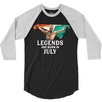 Legends Are Born In July - Connor McGregor 3/4 Sleeve Shirt