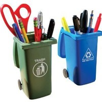 BigMouth Inc The Mini Curbside Trash and Recycle Can Set