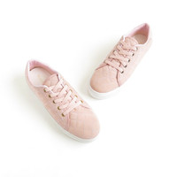 Womens Sneakers Quilted Pink Platform Sneakers Pastel Goth Shoes Pale Grunge 90s Chunky Shoes Vaporwave Aesthetic Size US 9-9.5, EU 40, UK 7