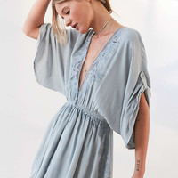 ASTR Mila Floral Embroidered Romper - Urban Outfitters