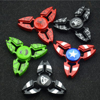 DC Avengers Characters Captain American Spiderman Hulk Superman Fidget Toy Hand Spinner Metal Finger Stress