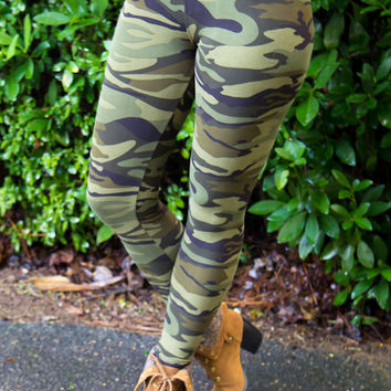 Now You See Me Camo Leggings - Final Sale