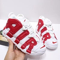 """Nike Air More Uptempo """"White Gym Red"""" Toddler Kid Shoes Child Sneakers - Best Deal Online"""
