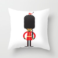 British Queen Guard Palace Decor Throw Pillow by Cabinet Of Pretty Things