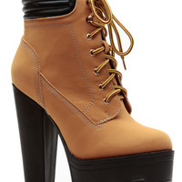Chunky Sole Camel Hiker Bootie