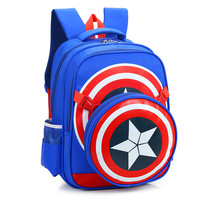 2016 Captain America School Bags for Boys Student Shoulder Bag Travel Bag Satchel High Quality Children Backpacks Best Gift