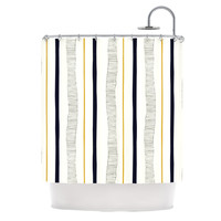"""Laurie Baars """"Textured Stripes"""" Abstract Lines Shower Curtain"""