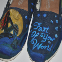 "Hand Painted TOMS ""Little Mermaid"""