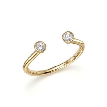 KC Designs Diamond Two Stone Open Ring in 14K Yellow Gold, .16 ct. t.w. | Bloomingdales's