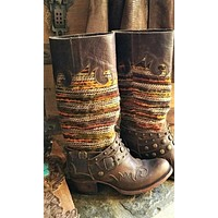 Lane Paradise Leather and Wool Boot- size 6
