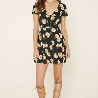 Floral Buttoned Mini Dress | Forever 21 - 2000178237