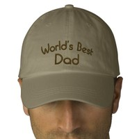 World's Best Dad Cute Embroidered Hat | Zazzle