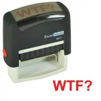WTF? Stamp - Red:Amazon:Everything Else