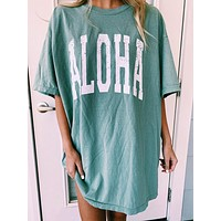 2020 new women's round neck short sleeve graphic print loose pullover T-shirt