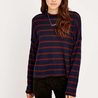 BDG Navy Striped Turtleneck Top - Urban Outfitters