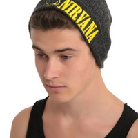 Nirvana Smiley Logo Marled Grey Watchman Beanie