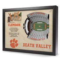 Clemson Tigers 25-Layer StadiumView 3D Wall Art