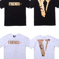 HCXX 19July 601 Vlone Friends Cotton Comfortable Short-sleeved T-shirts