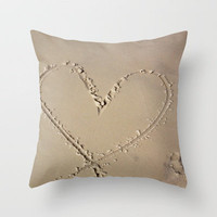 Beach Throw Pillow by Camille Renee | Society6