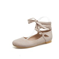 Girls Shallow Mouth Strap Flat Shoes