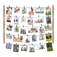 Easy Clip On 30 Photo Wall Display System