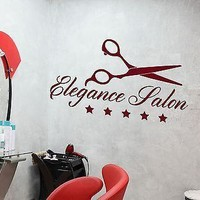 Wall Stickers Elegance Salon Hair Beauty Barber Tools Spa Vinyl Decal Unique Gift (ig2034)