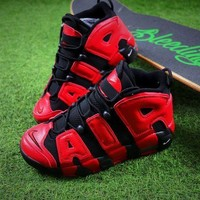 Tagre™ ONETOW Nike Air More Uptempo QS Black Red Baskerball Shoes 415082-005 Sneaker - Best Online Sale
