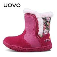 Little Girls Boots Faux Fur Plush Kids Boots Glitters Children Boots Soft Sole Winter Boots for Toddler baby Girl shoes