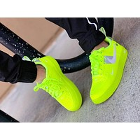Nike Air Force 1 Fluorescent Green Couple Sports Shoes-3