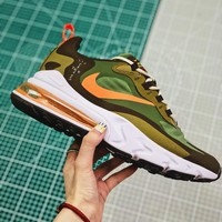 Travis Scott X Nike Air Max 270 React Olive Green Running Shoes - Best Online Sale