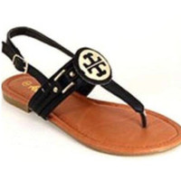 Tory Burch Inspired Sandals: Black