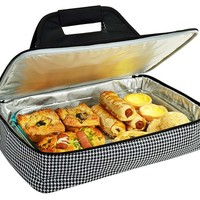 One Kings Lane - Open-Air Afternoons - Thermal Food Carrier, Houndstooth