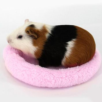 Guinea Pig Hamster House Winter Warm Animal Rabbit Squirrel Hamster Bed Washable Soft Guinea Pig Cage Accessories