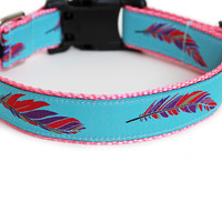 Colorful Feathers Dog Collar for Small Dogs